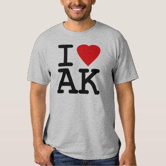 I Love Heart Alaska Tee Shirt