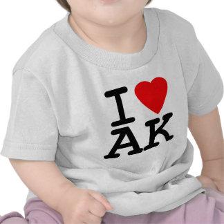 I Love Heart Alaska T Shirts