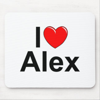 I Love (Heart) Alex Mouse Pad
