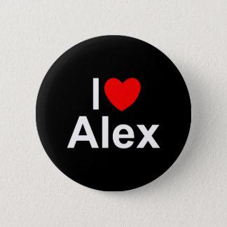 I Love (Heart) Alex Pinback Button