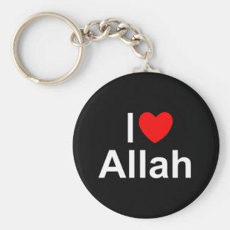 I Love (Heart) Allah Basic Round Button Keychain