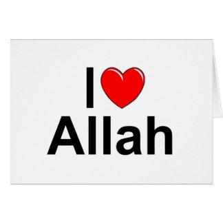 I Love (Heart) Allah Card