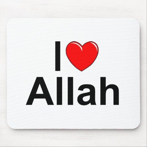 I Love (Heart) Allah Mouse Pad