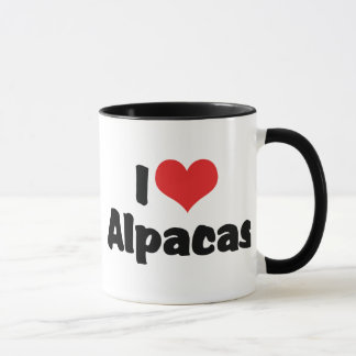 I Love Heart Alpacas Mug