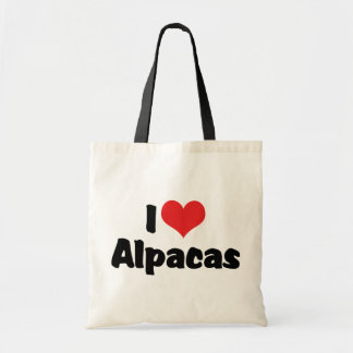 I Love Heart Alpacas Tote Bag