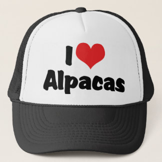 I Love Heart Alpacas Trucker Hat