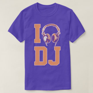 I Love Heart Am A DJ Club House Techno Hip Hop Tee