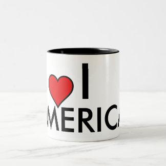 I love [heart] AMERICA coffee mug