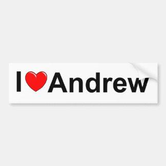I Love (Heart) Andrew Bumper Sticker