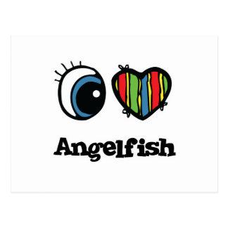 I Love (Heart) Angelfish Postcard