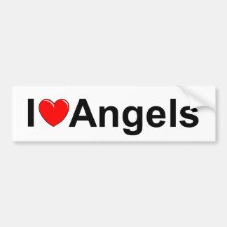 I Love (Heart) Angels Bumper Sticker