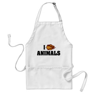 I Love Heart Animals - BBQ Cookout Lovers Adult Apron