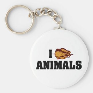 I Love Heart Animals - BBQ Cookout Lovers Keychain