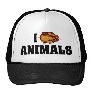 I Love Heart Animals - BBQ Cookout Lovers Trucker Hat