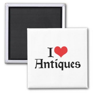 I Love Heart Antiques - Antique Collector Magnet