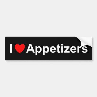 I Love (Heart) Appetizers Bumper Sticker