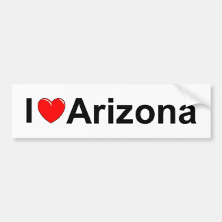 I Love (Heart) Arizona Bumper Sticker