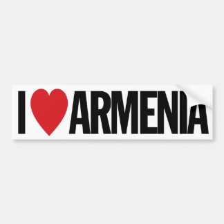 "I Love Heart Armenia 11"" 28cm Vinyl Decal"
