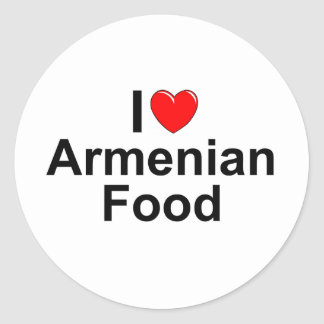 I Love (Heart) Armenian Food Sticker