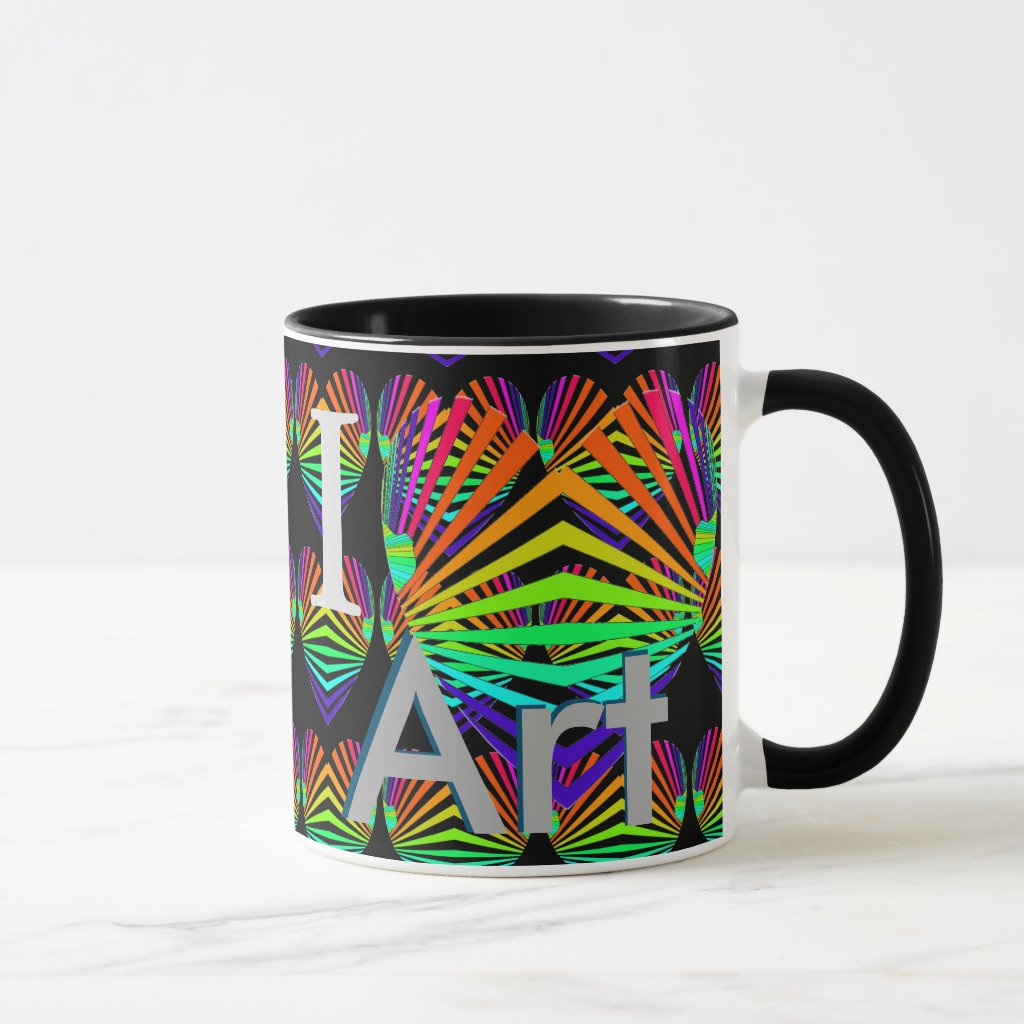 I Love Heart Art Coffee Mug Valentines Gifts 4a