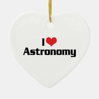 I Love Heart Astronomy - Star Watcher Ceramic Ornament
