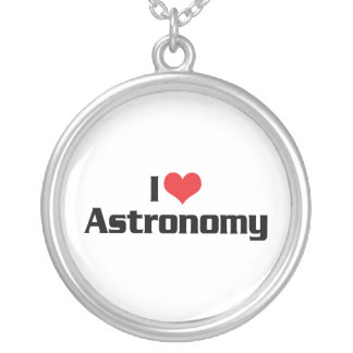 I Love Heart Astronomy - Star Watcher Silver Plated Necklace