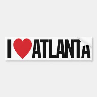 "I Love Heart Atlanta 11"" 28cm Vinyl Decal Bumper Sticker"