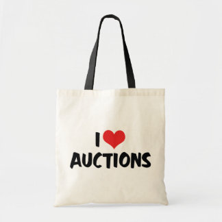 I Love Heart Auctions Tote Bag