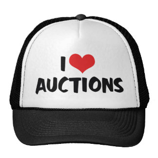 I Love Heart Auctions Trucker Hat