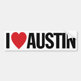 "I Love Heart Austin 11"" 28cm Vinyl Decal"