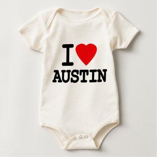 I Love Heart Austin Texas Bodysuit