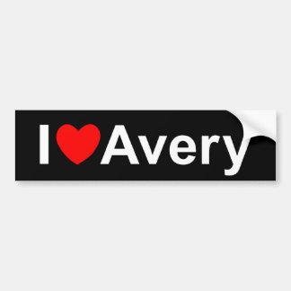I Love (Heart) Avery Bumper Sticker
