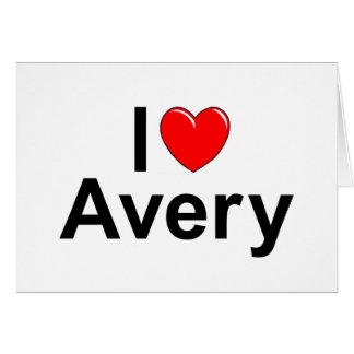 I Love (Heart) Avery Card