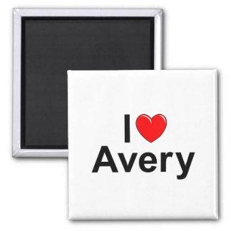 I Love (Heart) Avery Magnet