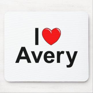 I Love (Heart) Avery Mouse Pad