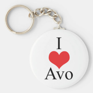 I Love (Heart) Avo Keychains
