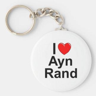 I Love Heart Ayn Rand Key Chain