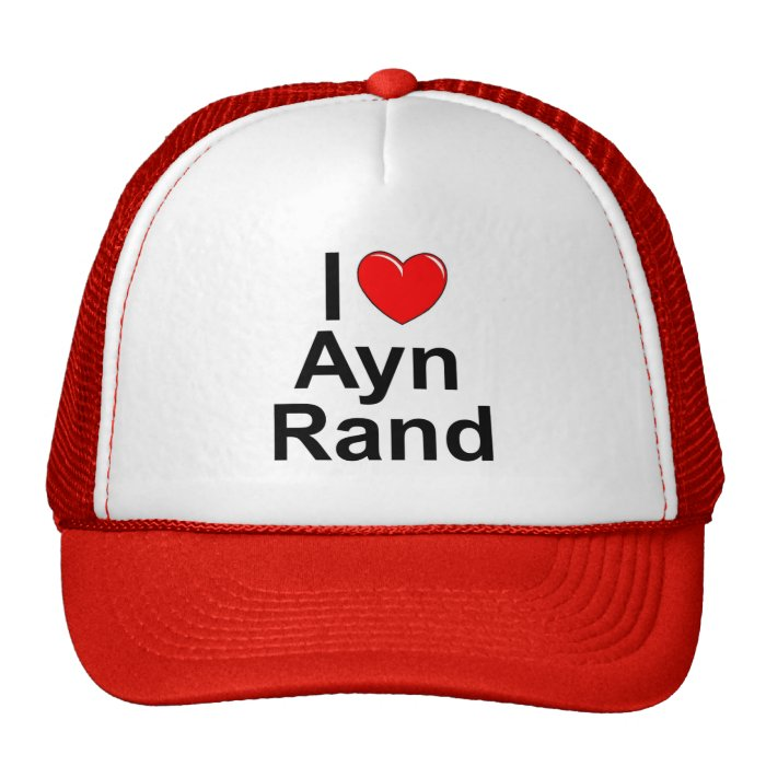 I Love (Heart) Ayn Rand Trucker Hat