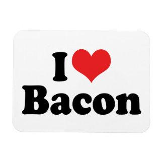 I Love Heart Bacon - Bacon Lover Rectangular Photo Magnet