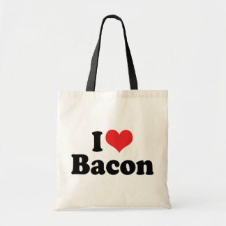 I Love Heart Bacon - Bacon Lover Tote Bag