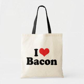 I Love Heart Bacon - Bacon Lover Tote Bag