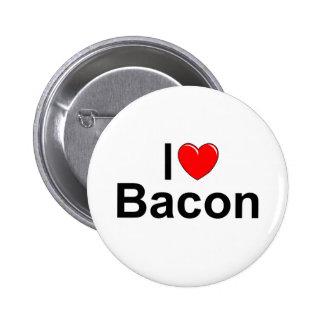 I Love Heart Bacon Pin