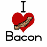 I love-heart Bacon Cut Out
