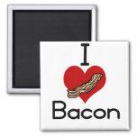 I love-heart Bacon Fridge Magnets