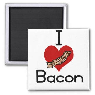 I love-heart Bacon Magnet