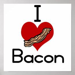 I love-heart Bacon Poster