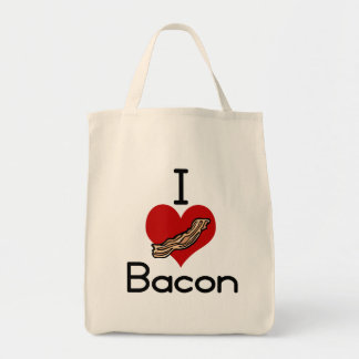 I love-heart Bacon Tote Bag