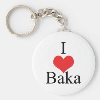 I Love (Heart) Baka Keychain