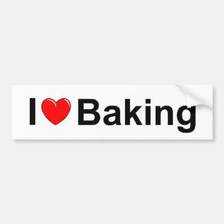 I Love (Heart) Baking Car Bumper Sticker