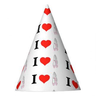I Love Heart Ballet Party Hat